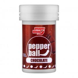 PEPPER BALL PLUS COMESTÍVEL CHOCOLATE DUPLA 3G PEPPER BLEND PB113