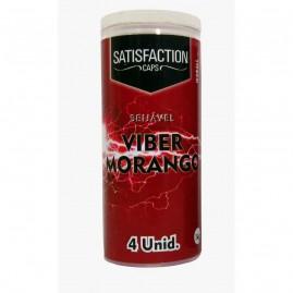 BOLINHA FUNCIONAL SATISFACTION VIBER MORANGO C/4 UNID.