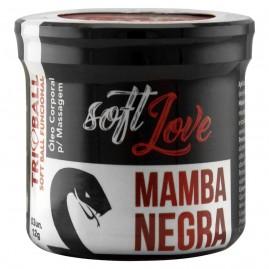 BOLINHA MAMBA NEGRA 03 UNIDADES